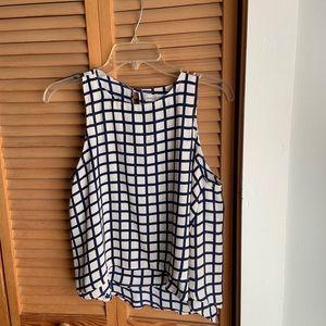 Checkered tank top blouse